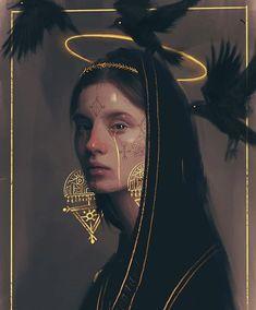 Dark Gold, D'zart, Digital, 2020 : Art Art Sketches, Art Drawings, Gold Aesthetic, Applis Photo, Dark Fantasy Art, Surreal Art, Portrait Art, Art Girl, Art Inspo