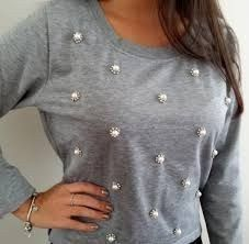 Refashions – Clothing Looks Embroidery On Clothes, Embroidery Fashion, Shirt Refashion, Diy Shirt, Diy Clothing, Sewing Clothes, Diy Fashion, Fashion Outfits, Fashion Design