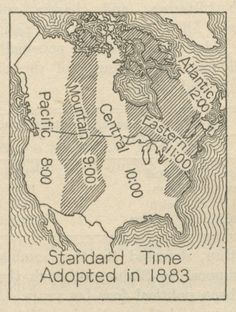Time  zones Map 1883