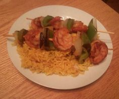 Meisha (Card) Johnson's grilled shrimp on May 12, 2014.