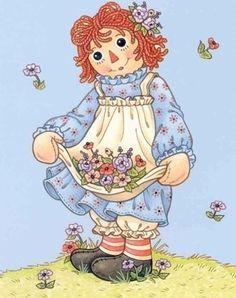 Raggedy Ann - raggedy-ann et andy-photo Ann Doll, Raggedy Ann And Andy, Holly Hobbie, Happy Birthday Wishes, Birthday Greetings, Birthday Cards, Kawaii, Vintage Greeting Cards, Illustrations