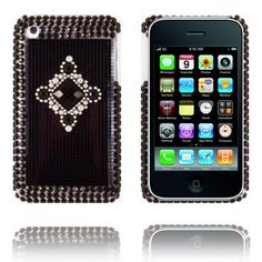 Royal Bling (Grey - Black Stone) iPhone Cover til 3G/3GS Lux-case.dk