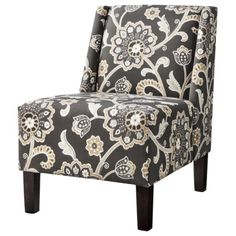 "Hayden Armless Chair - Charcoal - Chair Dimensions: "" H x "" W x "" D New Living Room, Living Room Chairs, Home And Living, Living Room Furniture, Find Furniture, Home Furniture, Grown Up Bedroom, Upholstered Accent Chairs, Family Room Decorating"