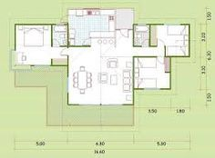 Resultado de imagen para planos de casas madera 3 dormitorios
