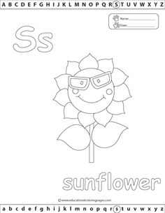 Alphabet Coloring Pages Set 1 | Coloring Pages S