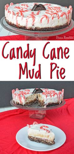Candy Cane Mud Pie Candy Cane Mud Pie Recipe - Want a special dessert recipe for the holidays? Try this rich Mint Chocolate Candy Cane Mud Pie for your next party or family gathering. Best Dessert Recipes, Pie Recipes, Easy Desserts, Holiday Recipes, Delicious Desserts, Yummy Food, Christmas Recipes, Recipies, Yummy Recipes