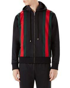 2bccf78216a Gucci Web-Striped Track Jacket