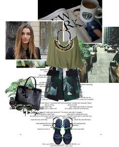 """Olive chic spring"" by randomlife ❤ liked on Polyvore"