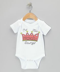 Take a look at this Pink 'Our Little Princess' Personalized Bodysuit - Infant on zulily today!