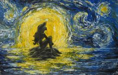 Little Mermaid Van Gogh