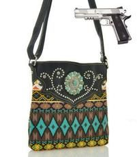 Aztec Concho Concealed Carry Cross Body Purse