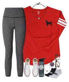 Untitled #1762 by southernstruttin on Polyvore featuring lululemon, NIKE, Converse and Ray-Ban
