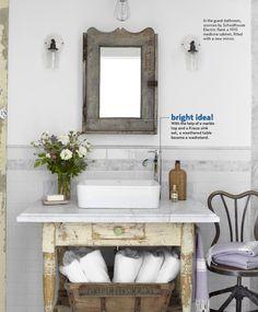 Rustic bathroom idea.