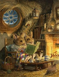 "pagewoman:  "" Fireside  by Chris Dunn  """