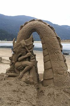 Sandcastle, Harrison Hot Springs Resort in the Fraser Valley of B.C. Canada.