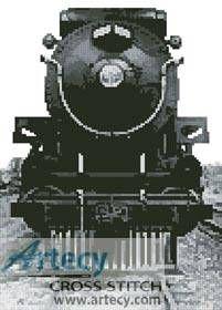 Vintage Train cross stitch pattern.