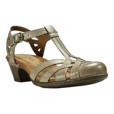 Rockport Women's Cobb Hill Aubrey T Strap Sandal, Size: 9.5 N, Khaki Full