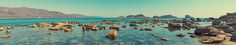 Panorama of the rocky shore of the sea. Redbubble. Prints, Posters, and More!