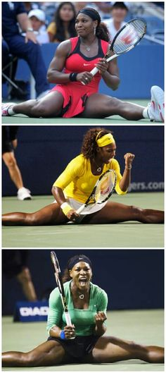 .Serena Williams.  Getting all 'James Brown' (or would you prefer 'Prince'?) on 'em!