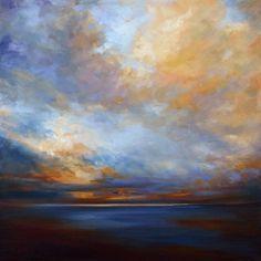 "Coastal Clouds 10 20 x 20"" Oil on canvas"
