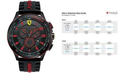 6fa843f5ea7 Scuderia Ferrari Men s Chronograph Scuderia Black Silicone Strap Watch 48mm  830138 Presentes