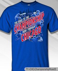 CHICAGO CUBS NL CENTRAL CHAMPS 2016 NEW ROAD TO CHAMP SHIRT   #MLBPA