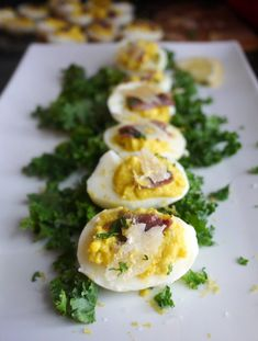 Caesar Salad Deviled Eggs - Great for a Gatsby-themed party!
