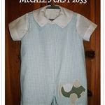McCall's Easy 2033 romper and shirt., 'Made this for my great-nephew :)