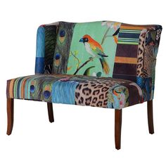 Merado Two Seater Sofa – Shropshire Design Iron Patio Furniture, Sunroom Furniture, Cool Furniture, Patriotic Bedroom, Blue Velvet Couch, King Chair, Outdoor Metal Wall Art, Patterned Chair, Wicker Headboard
