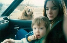 """""""This is a photo of me, my lovely mother, and an angry bear. Obviously, I was just as thrilled to see the bear as it was to see me. Funny Animals, Cute Animals, Animal Funnies, Awkward Family Photos, Family Pictures, Bear Photos, Bizarre, Family Humor, Funny Family"""