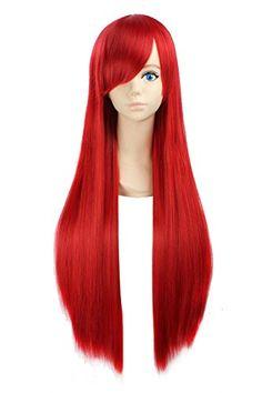 "eNilecor 31"" 39"" Women's Fashion Long Straight Anime Cosplay Costume Party Wigs (31"" 80cm, Red) eNilecor http://www.amazon.com/dp/B00XN8QPO6/ref=cm_sw_r_pi_dp_QgAxwb1S0CNJ9"