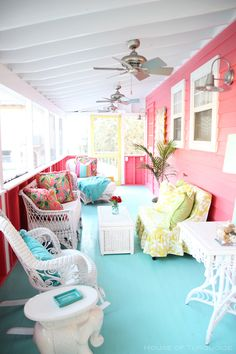 House of Turquoise: Sundew Cottage - Tybee Island, GA | Radial Wave Sconces