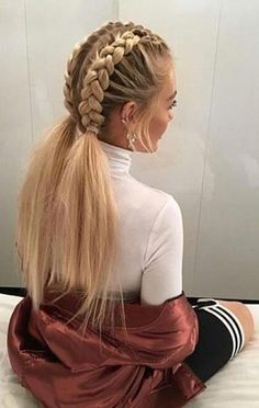 This schoolgirl favorite is all grown up. See the 12 new braided hairstyles we c… This schoolgirl favorite is all grown up. See the 12 new braided hairstyles we c…, This schoolgirl favorite is all grown up. See the 12 new braided hairstyles we c. New Braided Hairstyles, Girl Hairstyles, Trending Hairstyles, Cute School Hairstyles, Stylish Hairstyles, Teenage Hairstyles, Plaits Hairstyles, Hairstyles Haircuts, Clubbing Hairstyles