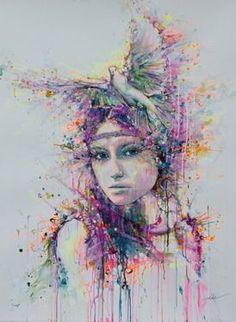 "Lykke Steenbach Josephsen; Painting, ""Dove"""