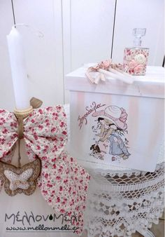 "Set Βάπτισης ""Sarah Kay I"" Sarah Kay, Decoupage, Decorative Boxes, Home Decor, Homemade Home Decor, Decoration Home, Decorative Storage Boxes, Interior Decorating"