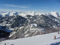 A group of three skiers enjoying the snow covered Gasteiner... #dorfgastein: A group of three skiers enjoying the snow… #dorfgastein