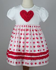 Valentines Ruffled Heart T-shirt or onesie dress.  pdf sewing pattern www.mackandlilypatterns.etsy.com