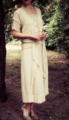 Robe de Mariee 1920 Robe ancienne Great Gatsby Boardwalk Empire Soie