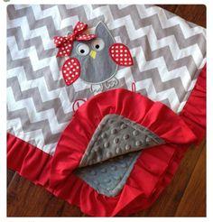 Personalized Baby Blanket - Minky Baby Blanket - Chevron Blanket - Applique Baby Blanket - Ruffle Blanket - Design Your Own Blanket Ruffle Blanket, Chevron Blanket, Minky Baby Blanket, Baby Blanket Tutorial, Owl Blanket, Flannel Baby Blankets, Fleece Blankets, Baby Swaddle, Receiving Blankets