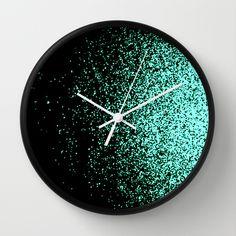 infinity in mint green Wall Clock