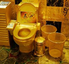 The Hall Of Gold has become a famous tourist attraction in Hong Kong. Owned byHang Fung Gold Technology Group the golden throne is meant to be admired, not put to practical use...what a sham