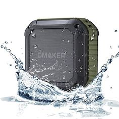 awesome [Best Outdoor&Shower Bluetooth Speaker Ever] Omaker Portable Bluetooth Speaker with 12 Hour Playtime for Outdoors/Shower (Army Green) Best Portable Bluetooth Speaker, Waterproof Bluetooth Speaker, Bluetooth Speakers, Ipod, Passive Subwoofer, Shower Speaker, Android, Audio, Army Green