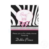 Zebra Print Baby Shower Invitation invitation