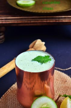 Cucumber masala chaas : 2 cups thick butter milk . 1 medium cucumber . ½ teaspoon roasted cumin seeds powder . 10-12 mint leaves . Salt . ¼ tsp chaat masala powder . 1 tsp lemon juice . 1 cup water