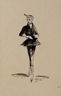 Costume designs by Elois Jenssen for Lucille Ball