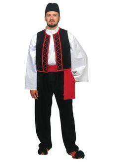 Sarakatsanos Male Traditional Dance Costume - www.nioras.com European Dress, Turkish Men, Byzantine Art, Dance Costumes, Greek Costumes, Art Store, Folk Costume, Traditional Dresses, Shows