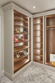 Luxury Closet Design & High End Closet Systems Wardrobe Room, Wardrobe Design Bedroom, Master Bedroom Closet, Walk In Wardrobe, Shoe Storage In Wardrobe, Wardrobe Ideas, Capsule Wardrobe, Luxury Wardrobe, Luxury Closet