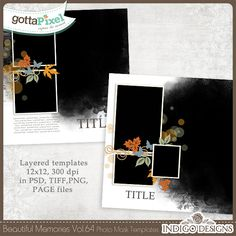 Beautiful Memories Templates Vol.64 :: Gotta Grab It :: Gotta Pixel Digital Scrapbook Store by Indigo Designs