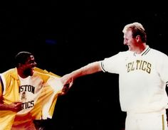"""Option #1: Magic Johnson and Larry Bird in Celtics Uniform - 8""""x10"""" Photo with Clear Protective Sleeve $14.95"""