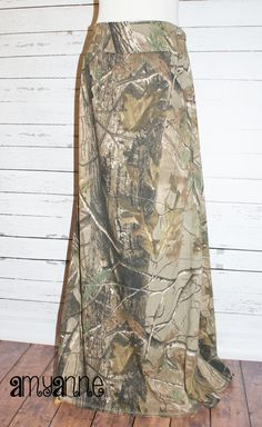 RealTree Camo Maxi Skirt Jersey Knit Womens and Plus Size Camouflage Long XS S M L XL XXL 3X 4X Sizes Available AmyAnne Duck Dynatsy Hunting...